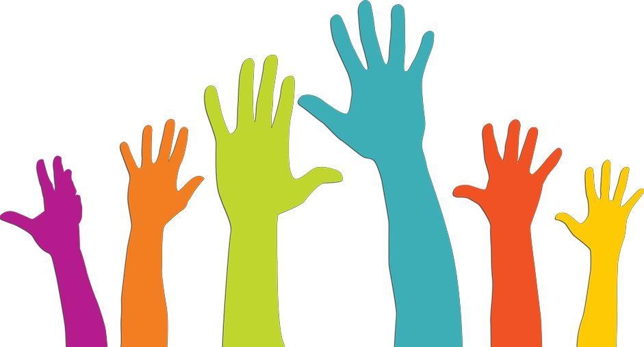 kids hands requesting help